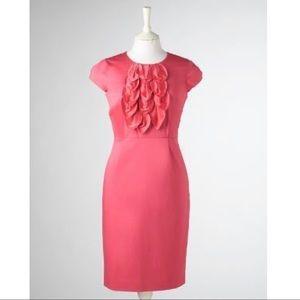 Boden • Coral Pink Limited Edition Silk Leaf Dress